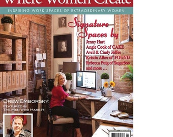 Magazine: Where Women Create Magazine from Stampington and Company Winter 2012