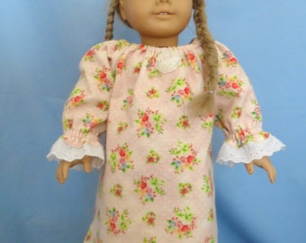 American Girl Doll - Winter Rose Flannel Nightgown