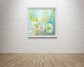 "Fine Art Print of Original Flower Oil Painting // ""Dazed"""