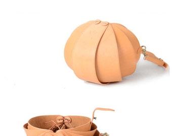 Brown Leather Crossbody Bag, Nude Leather Crossbody, Brown Crossbody Bag, Round Bag, crossbody bags for women, Beetle Bags, Shoulder Bag Men