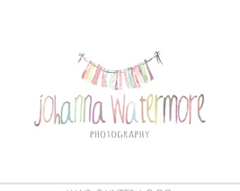Watercolor  Watermark Business Logo - Watercolor, Newborn, bunting, Drawn, Artistic, Unique, Nature, Simple Design, Banner, Photography