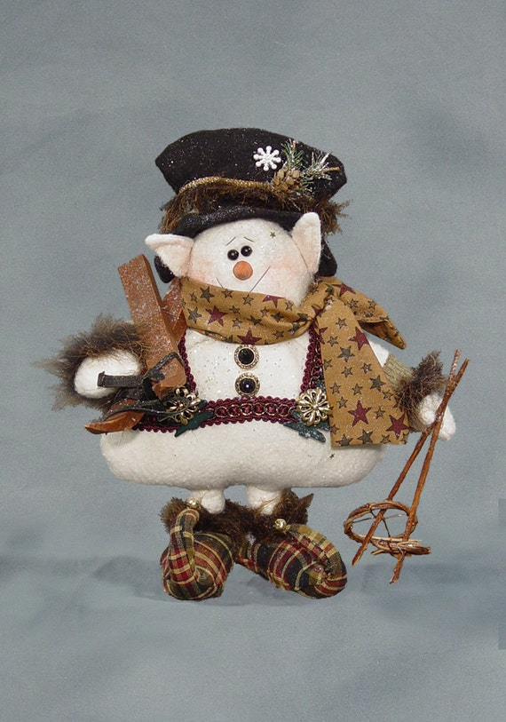 "Pattern: Sir Willabe Snelf - 12"" Snowman Elf"