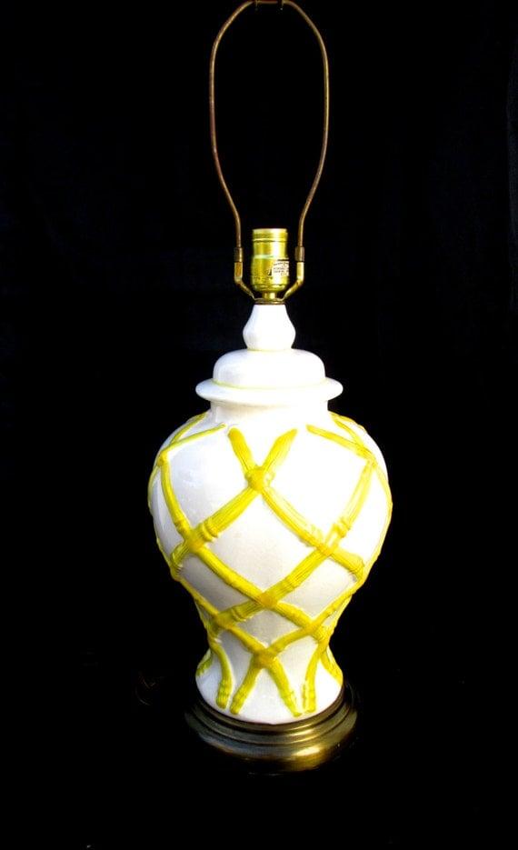 Yellow Ottoman Stool