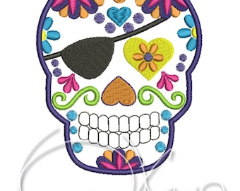 MACHINE EMBROIDERY FILE - Sugar skull, Calavera, Day of the dead