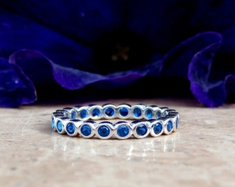 Eternity Band / Bubble Band / Sapphire Ring / Sapphire Eternity Band / Eternity / wedding ring / Sterling Silver Eternity