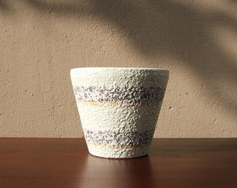 Modernist Planter / Plant Pot from the 60s by Bay - West German Pottery - Mid Century Modern - Fat Lava #02