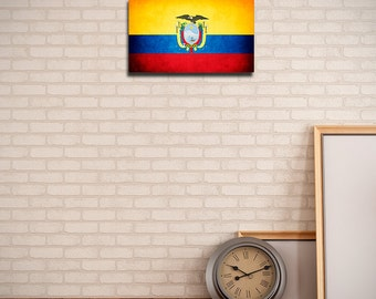 Ecuador Canvas Flag