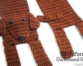 Crochet PATTERN - Dachshund Scarf / Dog Breed Scarf, Puppy Scarf, Dog Scarf, Neck Warmer - PATTERN ONLY