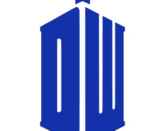 Doctor Who Tardis decal sticker