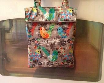 Kitchen Hanging Wetbag - Custom wet bag waterproof bag for kitchen towels, unpaper towels, dish rags, unsponges, cloth napkins.