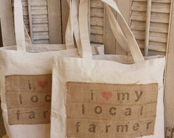 Farmer's Market Tote / cotton canvas tote bag / hit the farmer's market in style with this reusable tote / farmgirl chic / urban style