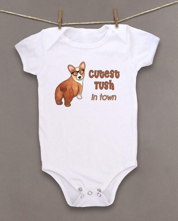 cute baby bodysuit unique baby clothes corgi baby puppy dog baby