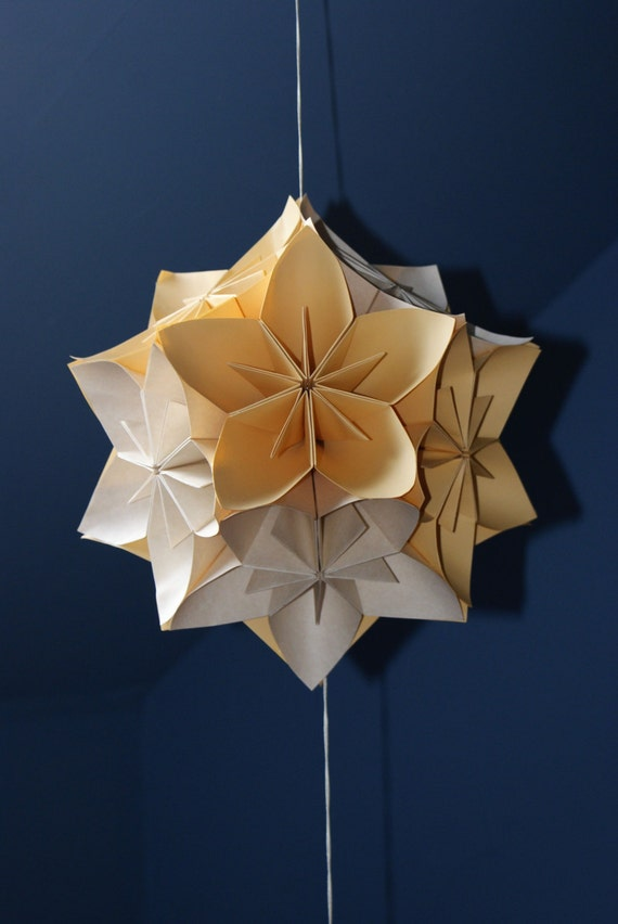 made to order huge origami kusudama flower ball hanging