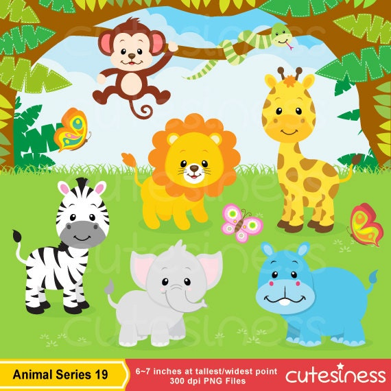 Jungle Animal Clipart , Safari clipart, Safari Clip art ...