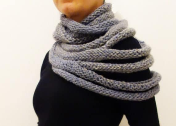 ... Ribbed Cowl/Winter Infinity Scarf/Chunky Knit Cocoon Scarf/ Loop/Cozy