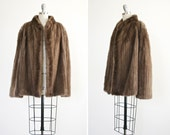 Lena jacket • vintage 1960s mink coat • light brown 60s mink car coat