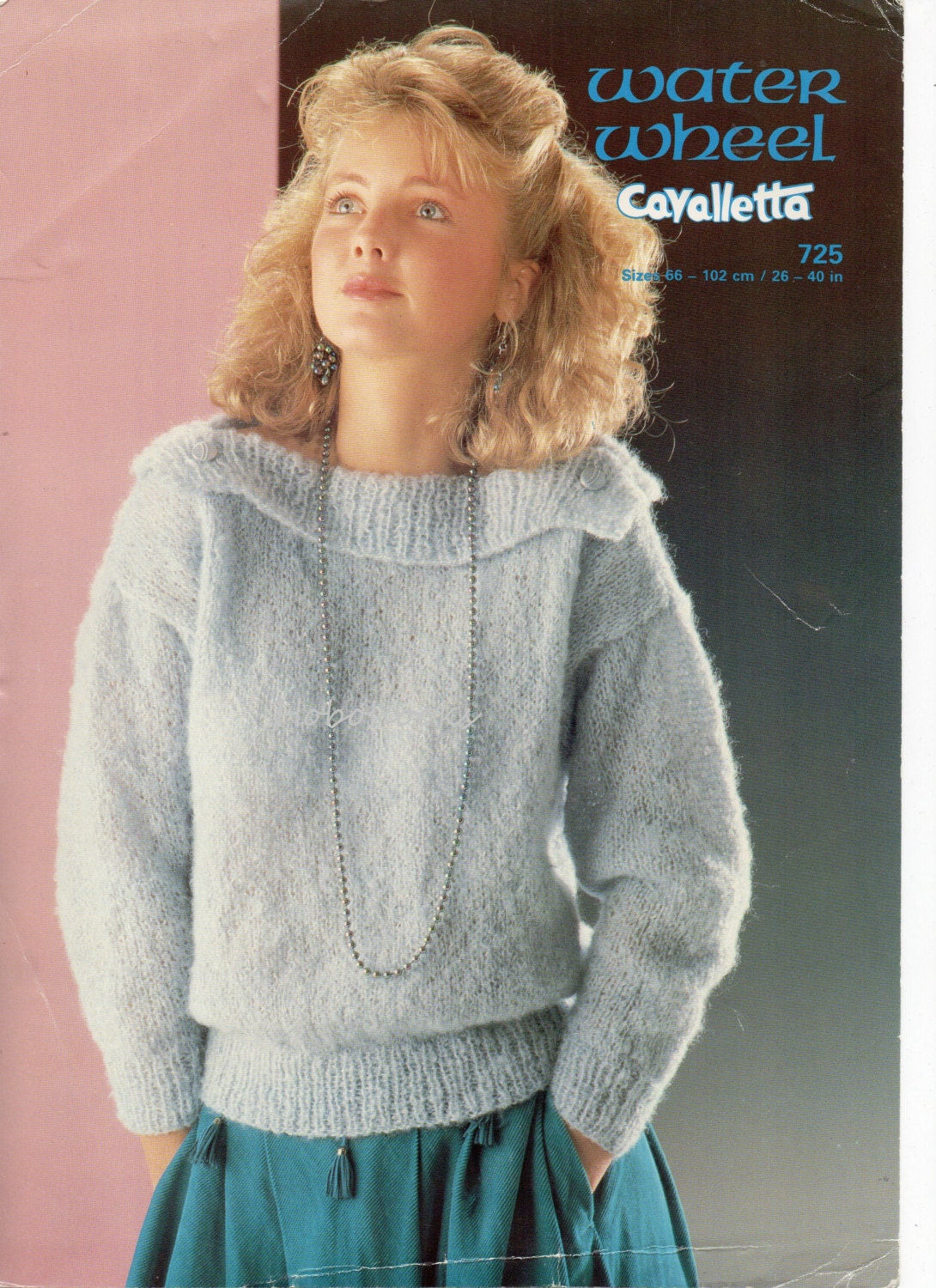 Mohair Knitting Patterns Sweaters : womens knitting pattern womens mohair sweater with wide collar