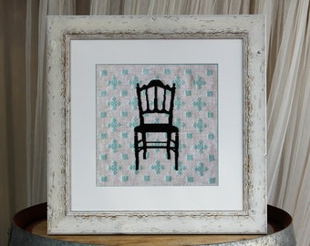 Cross Stitch Pattern, Modern Cross Stitch Pattern - Country Chair - PDF Instant Download