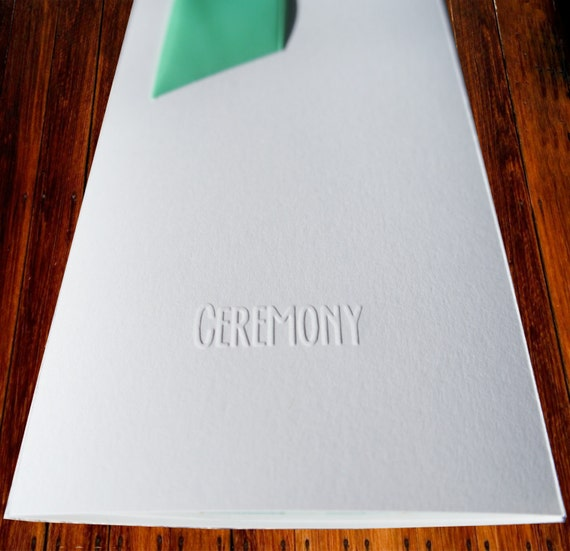 Embossed Program Covers For Wedding Ceremony Gorgeous Binding