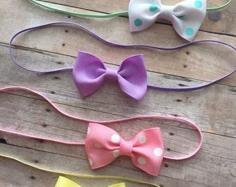 Baby girl headband, baby headbands, tuxedo bow headbands, hair bow headbands,Toddler headband, baby headband set, baby shower gift, newborn