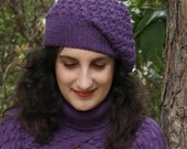 PDF pattern - Purple bobbles berret hat tam beenie