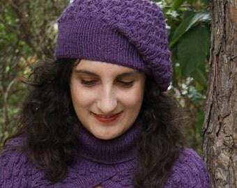 PDF pattern - Purple bobbles berret hat tam beenie