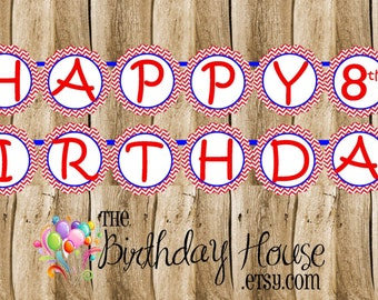 USA Gymnastics Girls Party Banner - Custom Gymnast Party Banner by The Birthday House