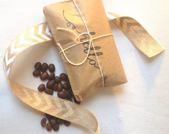 Unique greeting card. Coffee card. Birthday card. Freshly roasted COFFEE. Ready to ship.