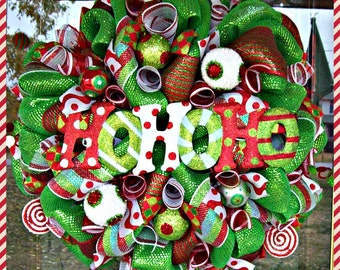 HOHOHO Whimsical Christmas Wreath