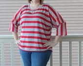 50% OFF Womens Dolman Top sewing pattern pdf,  shirt sewing pattern, top, womens PDF sewing pattern, dolman sleeve top