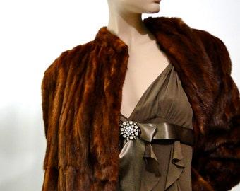 1930s Muskrat Fur Full Length Coat Vintage Movie Prop Antique Fashions Old Hollywood Glamour / Beckmans LA California / Fur Coat Vintage 30s