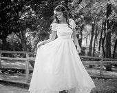 Short Wedding Dress Ivory 50s Wedding Dress Full Skirt Bridal Dress  50s Style Bridal Dress Tea Length Dress - Handmade by SuzannaM Designs