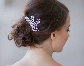 Bridal crystal headpiece, wedding hair accessories, small wedding crystal and pearls hair comb, mini wedding hair jewelry Style 272