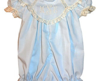 Heirloom Bubble or Dress for Girls with Scalloped Collar 1000