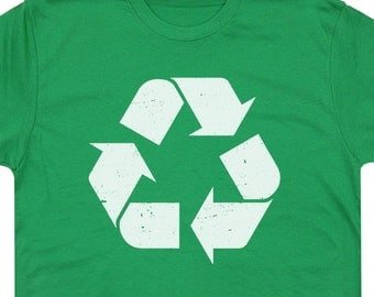 Recycle T Shirt Recycling Logo T Shirt Mens Recycle T Shirt Womens Recycle T Shirt vintage Recycle Logo T Shirt Retro 80s karma Kids Shirts