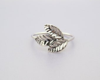 Leaf Ring, Silver Leaf Ring, Leaves Ring, Natural Ring, leaf silver ring, natural ring, Silver Leaves Ring, Unique Silver Ring, Gift For Her