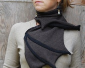 Cashmere Batwing Scarf - Reclaimed Sweater Novelty Goth Halloween Fun