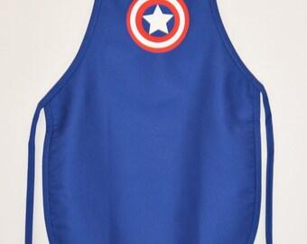 Child's Super Hero Captain America Dress Up Costume Apron | Boy's or Girl's  Sz Small or  Medium