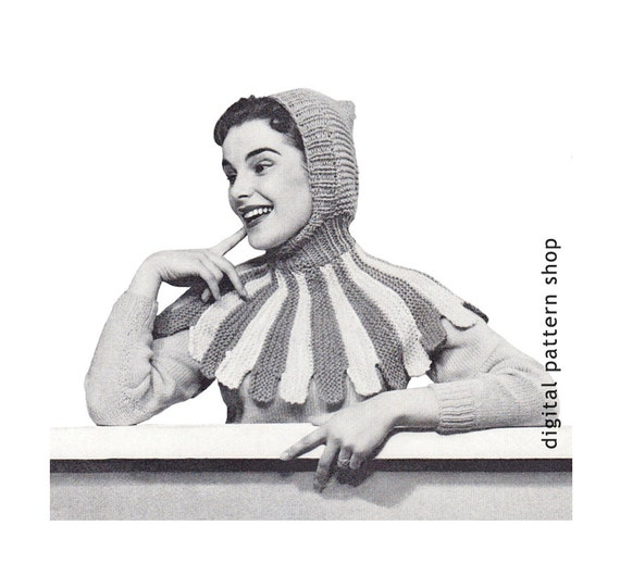 Spirit Hood Knitting Pattern : Knitting Pattern Vintage Knit Hat Pattern by ...