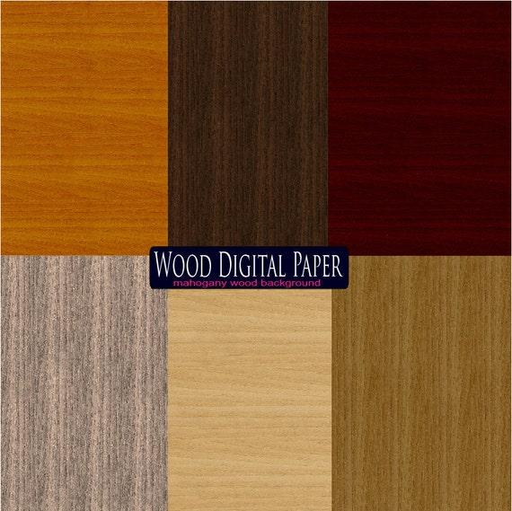 Mahogany Wood digital paper Red decor rustic wood wall Art scrapbook paper Wood Digital Background Natural wooden paper wenge Clipart wood