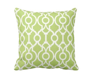 7 Sizes Available: Green Throw Pillow Cover Decorative Pillows Kiwi Green Pillow Cover Lime Green Pillows Trellis Pillow Green Sofa Pillow