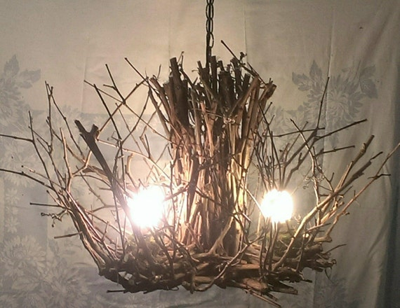 Savannah 3 Light Twig Light Grapevine Chandelier