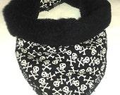 Mother Goth Bibble (bandana bib) - Skull and Crossbones