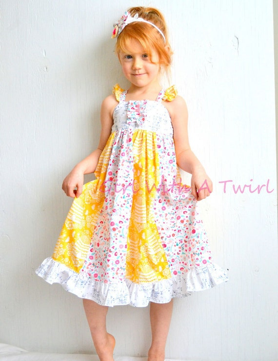 Toddler Maxi Dress 3T Long Dress Little Girls by GirlWithATwirl