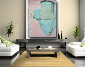 Acrylic Abstract Painting Abstract Art Large Original Painting Custom Pink Painting Blue art contemporary art Bethlehem pa by Cheryl Wasilow