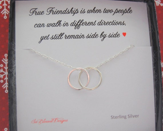 Wedding Gift Ideas For Close Friends: Best Friend Circle Necklace Graduation Gift Long Distance