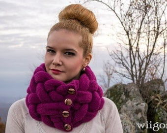 Woven Cowl, Scarf, Elegance in burgundy,Birthday gifts,Valentine gifts for her,fall-Winter fashion accessories