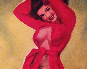 1953, T.N Thompson Pinup Girl Calendar Page, Risque, March/Spring 1950s