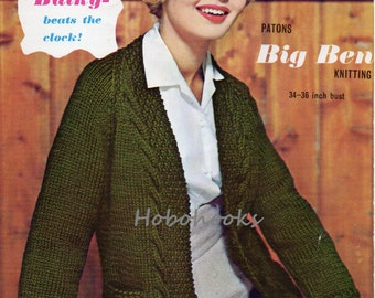 Knitting Pattern For Edge To Edge Cardigan : Womens knitting pattern womens long chunky cardigan with
