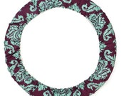 Steering Wheel Cover-Plum Damask-Car Accessory for Women-Cute Car Accessory